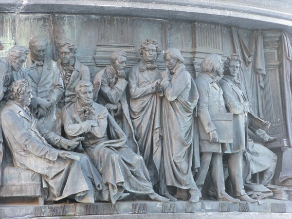 Памятник тысячелетию России, фрагмент