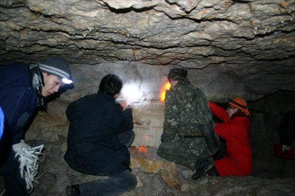 Тренировка топосъемки внутри каменоломен