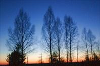 Ноябрьский закат под Старицей