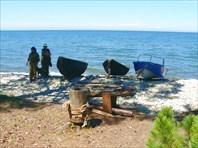 Стоянки рыбаков