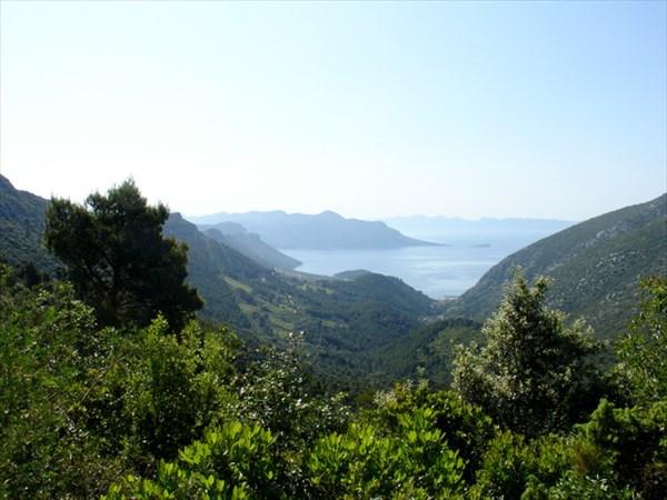 Полуостров Пелешац. Вид с перевала