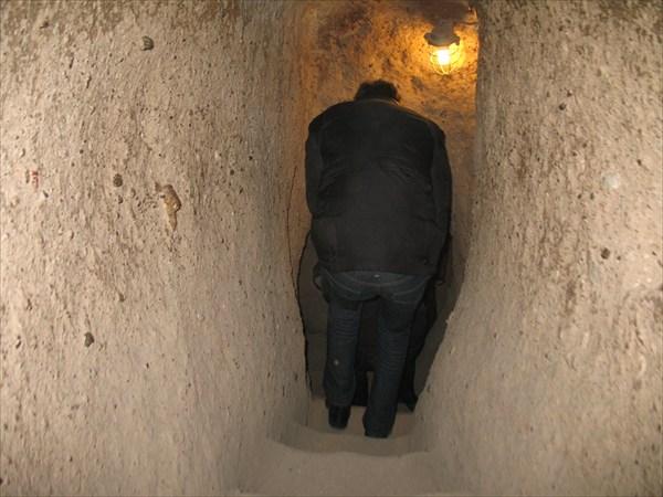 Узкие проходы подземного города