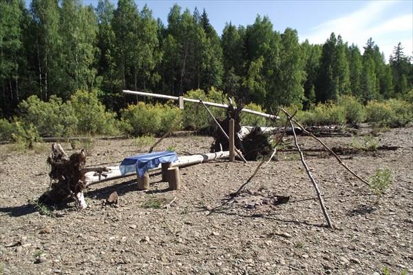 Стоянка, одна из многих на реке
