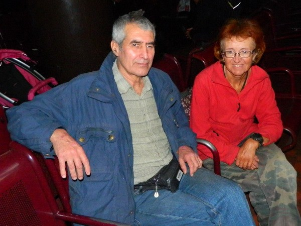 С Валерием Космиади на вокзале.