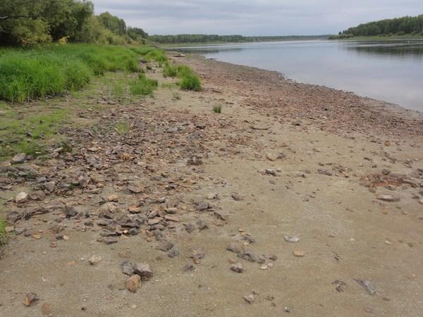 Каменистый пляж.