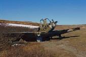 Один из подбитых самолетов