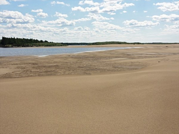 Песчаные намывы у с.Мутный материк