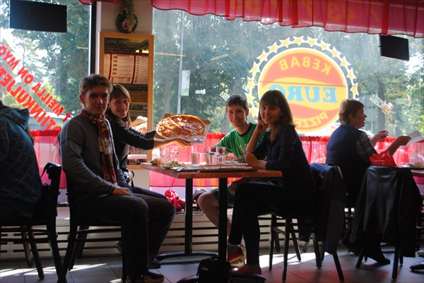 "В кафе ""Euro Kebab"""