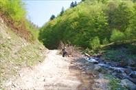 учесали вдоль реки куда-то в горы...