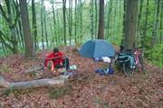 мы разбили лагерь.