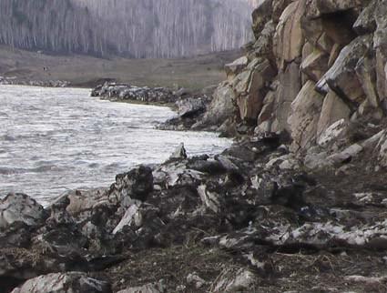 затопленная дорога у бома перед Солоновкой