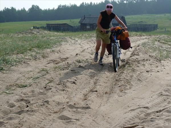 Несколько км пришлось помаяться и покувыркаться  в песочке
