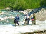 Наледь на реке Намама