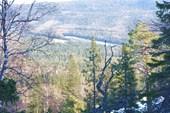 Вид с тропы на Митькиных скалах