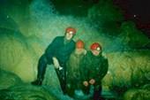 Маслов Дима, Юрьев Дима, Маслов Макс в пещере Красной