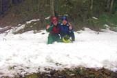 Кое-где лежал снег... Но нас это не пугало )