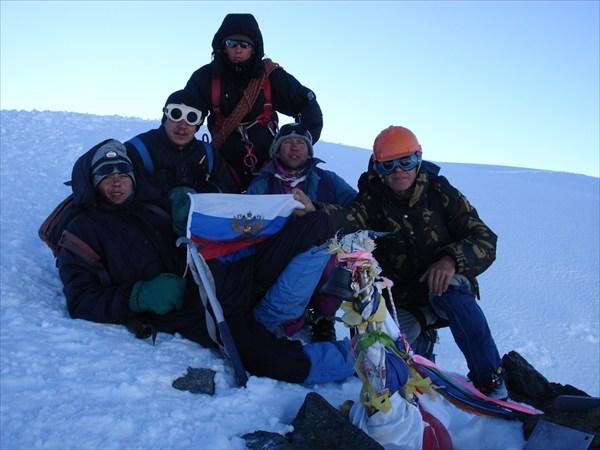 DSC03376 Мы у тура вершины Белуха Восточная
