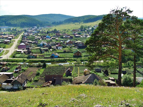 Вид на село.
