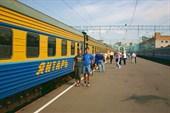 У поезда `Янтарь` на Белорусском вокзале