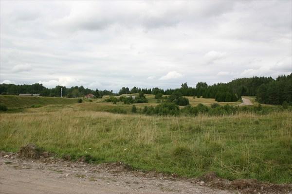 Пейзаж окраины поселка Краснолесье