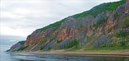 Общий вид скал после притока Хатыстыр