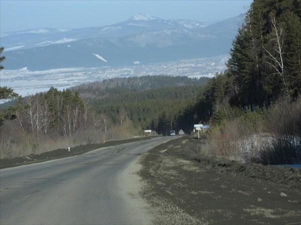 Дорога от Абзаково к Белорецку.