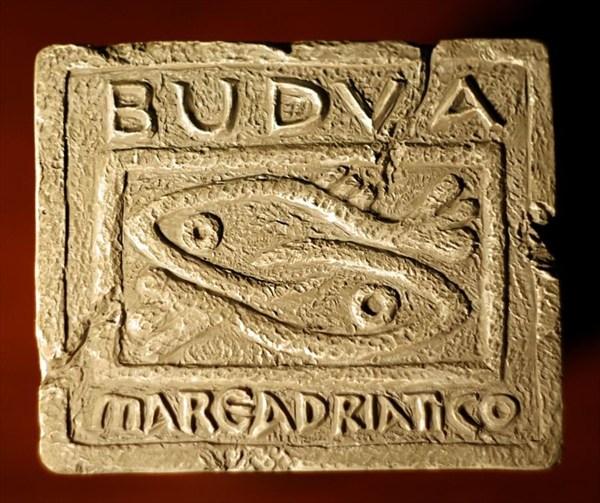 Магнитик - копия Будвинского камня-герба