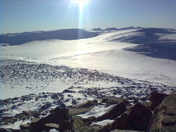Вид с вершины Кай-Айра на г.Ильгумень