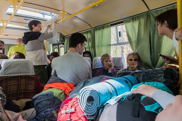 Сель... то бишь туристы в автобусе