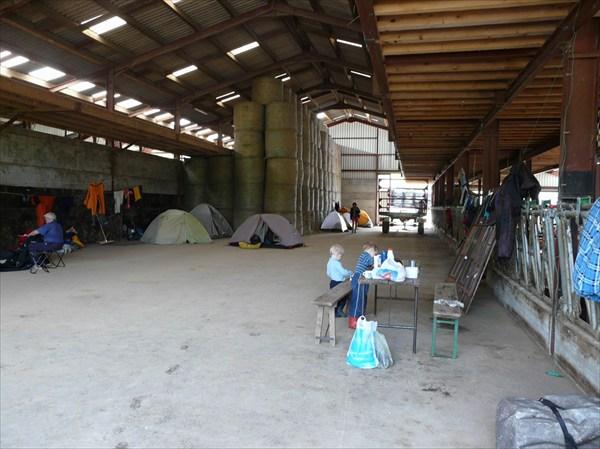 первый лагерь (на сеновале)