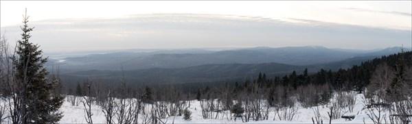 Панорама с горы Юрма.