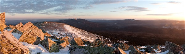 Панорама с горы Круглица.