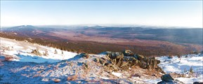 Панорама с горы Большой Таганай