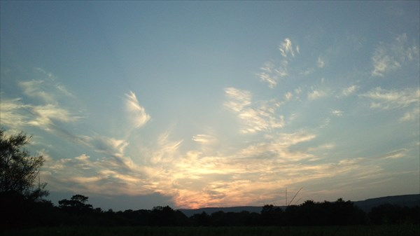 Закат в районе поселка Безверхово