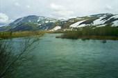 Река Собь. Вид с ж.д полотна