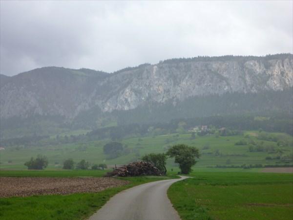 на фото: Подъезжаем к Hohe Wand