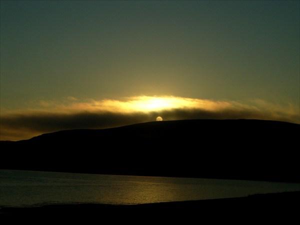 Солнце скрылось в тумане
