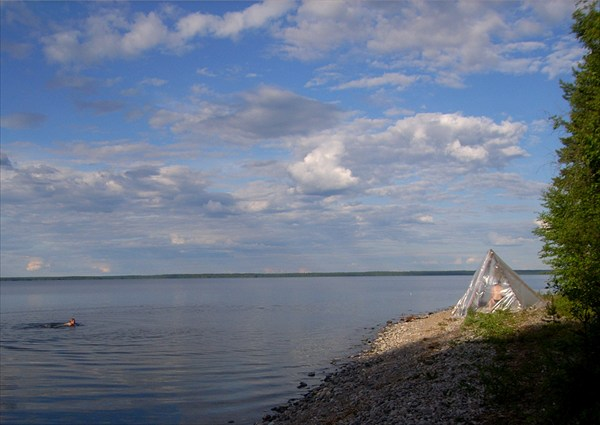 Банька на Онеге, напротив Медвежьегорска
