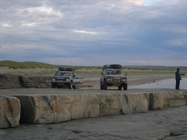 Каменное плато на берегу Баренцева моря