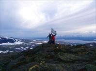 Ура, мы на вершине г. Аллуайв, выс. 1000 метров