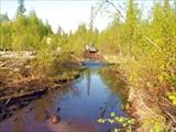 Брод через реку. Мост разрушен