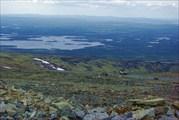 Вид с высоты Ловозерских тундр