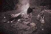 Утро в базовом лагере на поляне Гега-Бзыбь