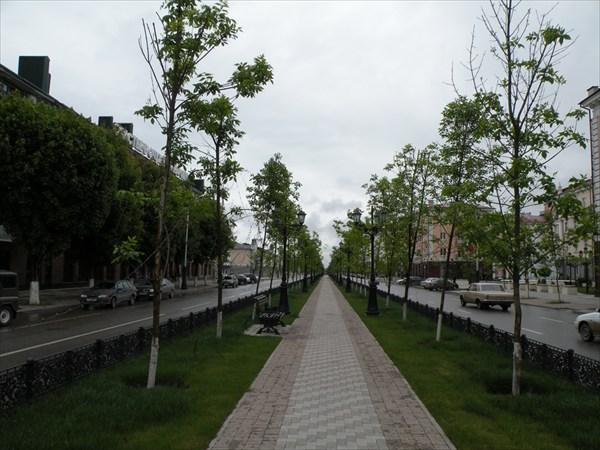 Бульвар на проспекте Путина