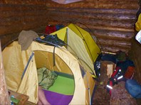 Палатки в бане