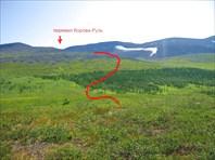 Схема захода на перевал Корова-Рузь
