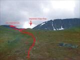 Вид на маршрут с места стоянки