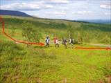 Идём по восточному склону хребта Малдыиз