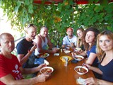 Первый дружеский обед в пгт Цандрыпш, Абхазия