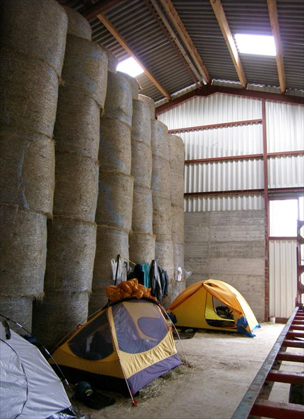 Лагерь в коровнике